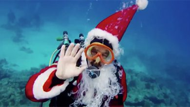 Scuba Diving Santa Claus to benefit Florida Keys Marine Santuary