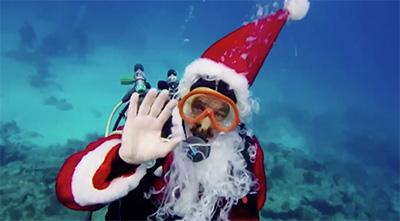 Scuba Diving Santa Claus to benefit Florida Keys Marine Santuary
